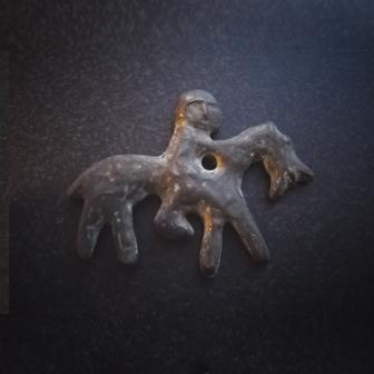 Papuošalai. Žalvarinis baltiškas kabutis XXXII