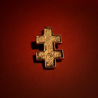 Baltiški papuošalai. Žalvarinis kabutis - Jogailos kryžius.