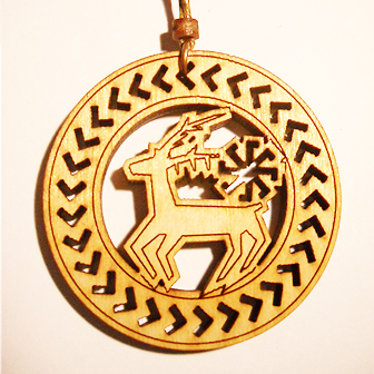 Papuošalai. Medinis kabutis Lietuviškas horoskopas - vietoje skorpiono - Elnias