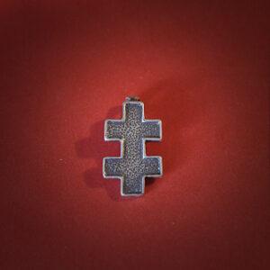 Baltiški papuošalai. Žalvarinis pasidabruotas kabutis - Jogailos kryžius.