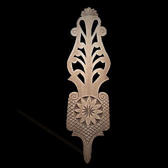 Medinė rankų darbo drožinėta verpstė XI, 36cm