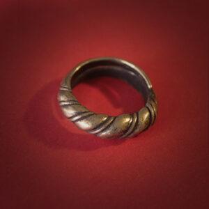 Baltiški papuošalai. Žalvarinis įvijinis žiedas I.