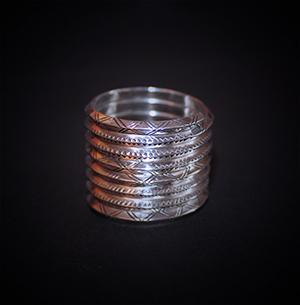 Baltiški papuošalai. Sidabrinis žiedas XV - diametrs 22mm