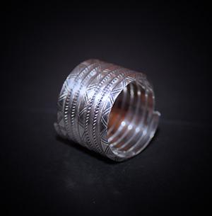 Baltiški papuošalai. Sidabrinis žiedas XV.