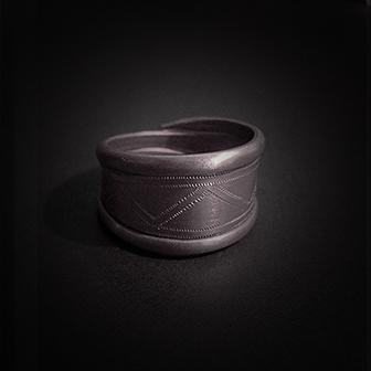 Baltiški papuošalai. Sidabrinis žiedas X.