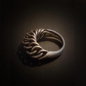 Baltiški papuošalai. Žalvarinis žiedas IV.
