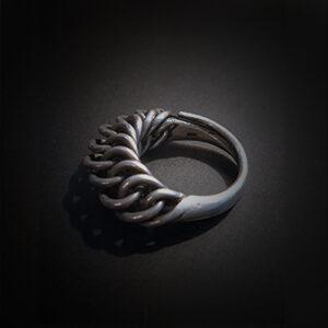 Baltiški papuošalai. Sidabrinis žiedas IV.