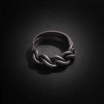 Baltiški papuošalai. Sidabrinis žiedas III.