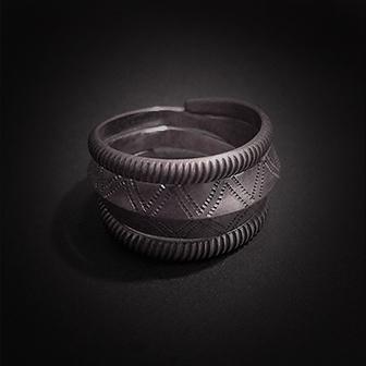 Baltiški papuošalai. Sidabrinis žiedas XIX.