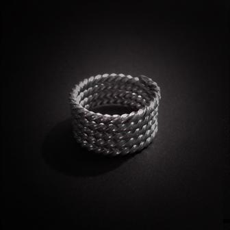 Baltiški papuošalai. Sidabrinis įvijinis žiedas I.