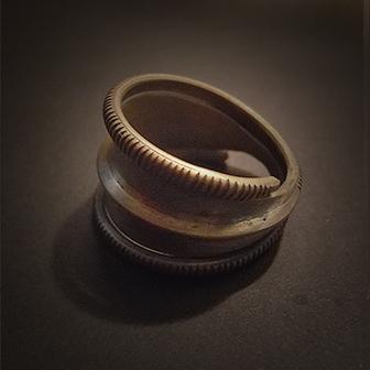 Baltiški papuošalai. Žalvarinis žiedas XVIII.