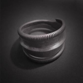 Baltiški papuošalai. Sidabrinis žiedas XVIII.