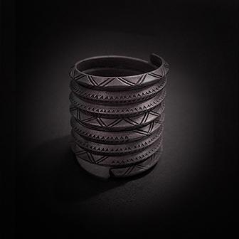 Baltiški papuošalai. Sidabrinis žiedas XV - diametras 17mm