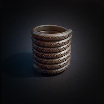 Baltiški papuošalai. Žalvarinis žiedas iš Palangos Xa.