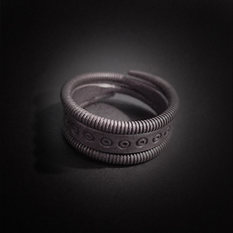 Baltiški papuošalai. Sidabrinis žiedas XI.Baltiški papuošalai. Sidabrinis žiedas XI.